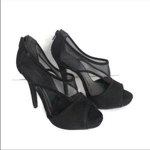 Call It Spring Black platform heels with mesh